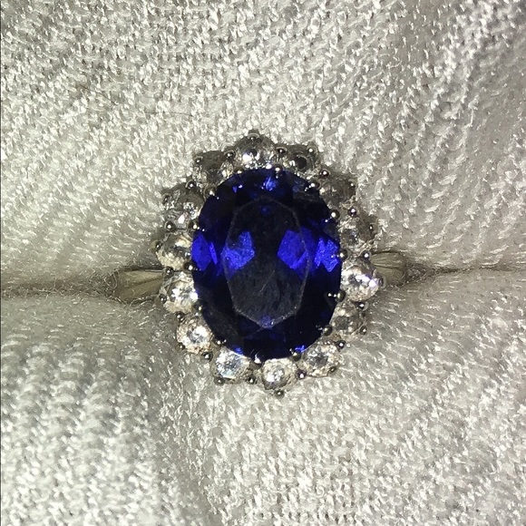 92 off Jared Jewelry Lab Created Sapphire Ring Size 75 Poshmark